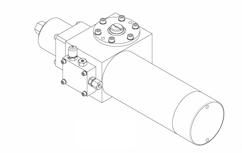 Mowe Carbon Steel Single Acting Hydraulic Actuator