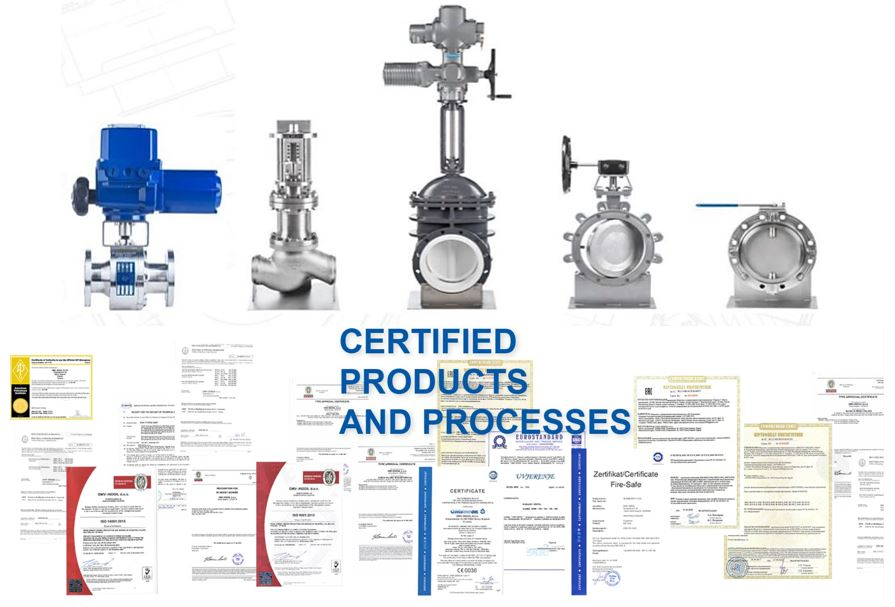 OMV products certificates