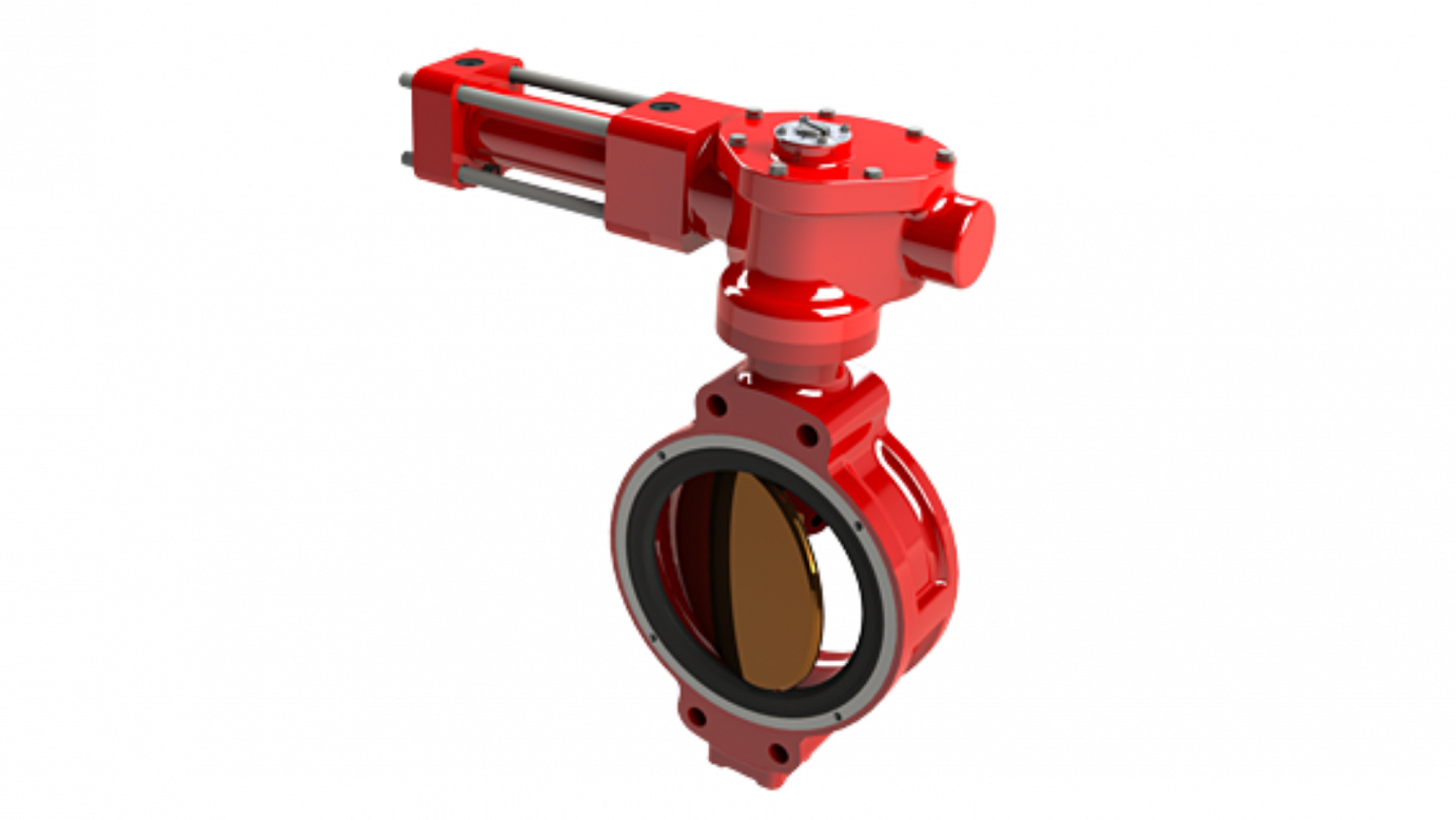 Pneumatics Actuators and Butterfly Hydraulic Valve